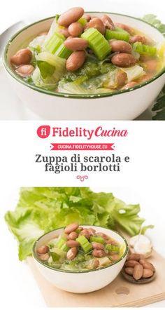 Zuppa di scarola e fagioli borlotti