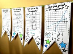In this collaborative activity, students graph and write the equations of systems of equations on each of 20 pennants. There are 2 sets of pennants in this download: 20 with QR codes for easy checking and 20 without. Also included is an optional student answer sheet and answer key.