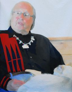 Darrell Norman, Blackfeet artist and owner of the Lodgepole Gallery and Tipi Village, Browning, Montana