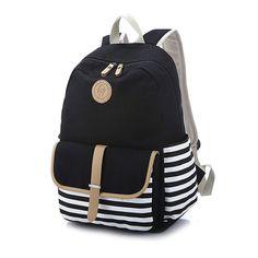 43c82b56cc Abshoo Lightweight Canvas Backpacks for Girls School Rucksack Bookbags  (Black) School Backpacks