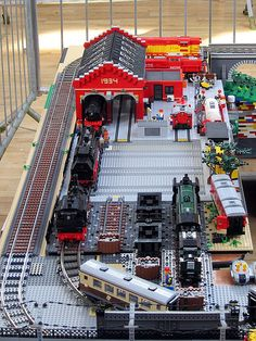 Train yard | Overview of my part of the layout, a train yard… | Flickr