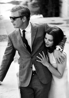 Michael Caine and Giovanna Ralli (On the set of Deadfall - 1968)