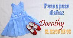 CÓMO HACER DISFRAZ DOROTHY EL MAGO DE OZ CASERO DIY 14