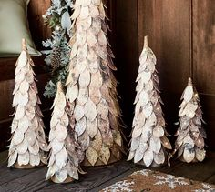 In any event, purchasing a tree is far from cheap, and if you don't go with a faux tree, you must dispose of it in just a couple months time, at most. Birch Tree Decor, Birch Bark Crafts, Tree Bark Crafts, Christmas Time Is Here, All Things Christmas, Christmas Holidays, Birch Christmas Tree, Rustic Christmas, Woodland Christmas