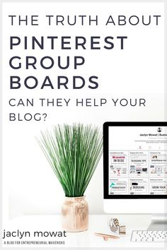 If you've ever found yourself asking, 'Will Pinterest Group Boards really help my business? << Jaclyn Mowat