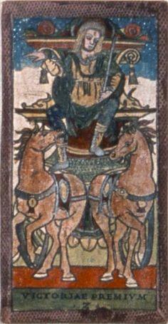 L'immagine rappresenta un condottiero (http://www.famaleonis.com/condottieri.asp), figura importante del periodo delle signorie e principati, su un carro trainato da cavalli.