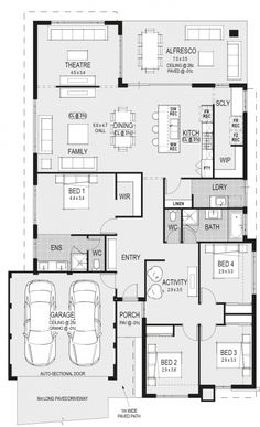 The Procida floorplan Add a games room House Layout Plans, New House Plans, Dream House Plans, Modern House Plans, House Layouts, House Floor Plans, Single Storey House Plans, Latest House Designs, Home Design Floor Plans