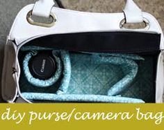 DIY Camera Bag out of a purse?  Uh, when can I do THIS?!?!? @Emily Painter, what do you think?