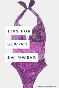 sewing swimwear