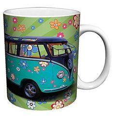 Volkswagen VW Camper Van Hippy Love Bus Vintage Car Photography Art Porcelain G.