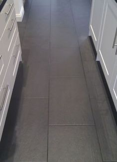 Slate Nero Floor Tiles With Dark Anthracite Grout   Bathroom
