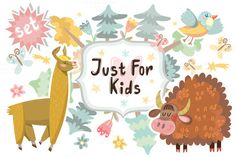 Just for kids by marushabelle on Creative Market