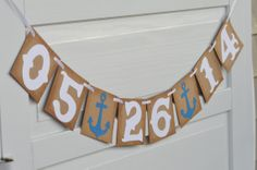 Beach Wedding Photos Save the date banner, beach wedding save the date sign, engagement photo prop, bridal shower decor Red Bridal Showers, Nautical Bridal Showers, Disney Bridal Showers, Bridal Shower Rustic, Engagement Photo Props, Engagement Favors, Wedding Save The Dates, Bridal Shower Decorations, Bridal Shower Invitations