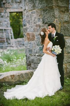 What a shot at the Ruins for this Granite Links Golf Club Wedding - Quincy, MA #GLGC #photography