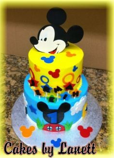 Mickey Mouse Cake By lanett on CakeCentral.com