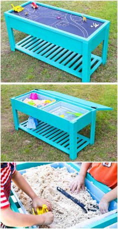 Smartly Built Kids Water and Sand Table - 60+ DIY Sandbox Ideas and Projects for Kids - DIY & Crafts