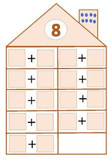 El pupitre: Descomposición de números. Montessori Math, Preschool Learning Activities, Fun Learning, Numicon, School Frame, Kids Math Worksheets, Math School, Numbers Preschool, First Grade Math
