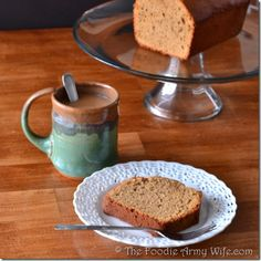 Coffee Pound Cake from The Foodie Army Wife