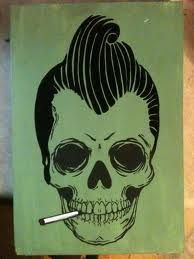 rockabilly skull - Google Search