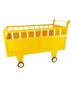 vintage yellow crib