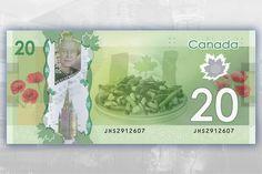 A poutine on a $20 bill (Photo by Matthew Peleshok)