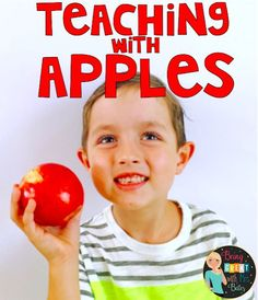 I love this time of year, and I really love teaching with apples this time of year. I love the chance to really dig into a theme and hit all subject areas! Well, apples are one of my favorites! I GET OUT ALL MY apple AND Johnny Appleseed books, I love fo Apple Activities, Fun Fall Activities, Classroom Activities, Group Activities, Classroom Ideas, Teacher Hacks, Best Teacher, School Teacher, Elementary Teacher