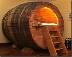 Tiny Beer Barrel Hotel Room in Germany