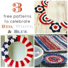 3 free patterns to celebrate red, white, and blue