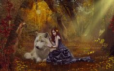 Princess and her Wolf by VeilaKs