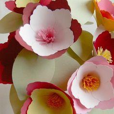Custom Color Miniature Magnolias - set of 9 paper flowers by oldrose