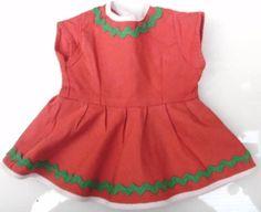 Kleid-Puppenkleidung-17-cm-h-rot-Sommerkleid-fuer-Puppe-35-40-cm-Geschenk