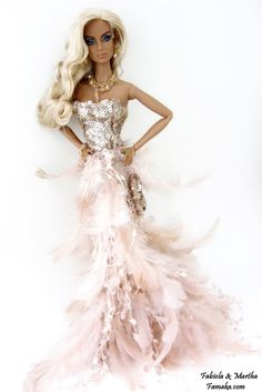 Fashion Royalty & Silkstone Barbie Peachy Pink Feather by Famaka