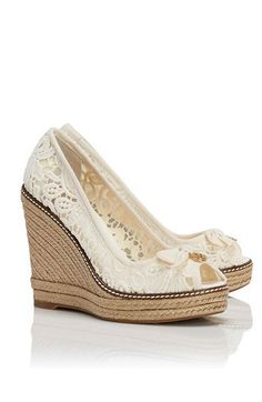 lacey bow wedges.