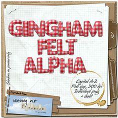 FREE: Gingham Alpha