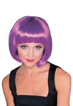 Amazon.com: Rubie's Costume Purple Super Model Wig, Purple, One Size: Colored Wigs: Clothing