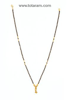 Mangalsutra Chain in 22K Gold of Length 18.0 inches - BBC994 - Indian Jewelry from Totaram Jewelers