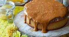 Κέικ αμυγδάλου με καραμέλα
