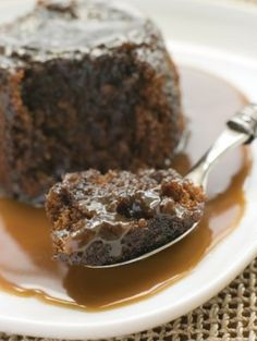 My take on sticky toffee pudding cake - Looks like Chef Gordon Ramsey's made on Master Chef.  Serve with Vanilla Bean Ice Cream - pass the sauce