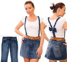 There are many ways to recycle old jeans into new fashion. Jeans are one of the favorite pieces of clothing for most peaple, especially among young people. All homes have at least one pair of jeans that are old, maybe … Read more. Diy Outfits, Diy Jupe, Diy Old Jeans, Jeans Recycling, Artisanats Denim, Jean Diy, Sewing Jeans, Estilo Jeans, How To Make Skirt