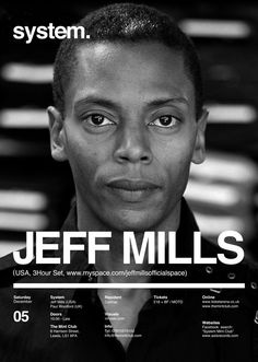 Jeff Mills - Godfather of Techno http://www.justgomusic.com/artists/jeff-mills