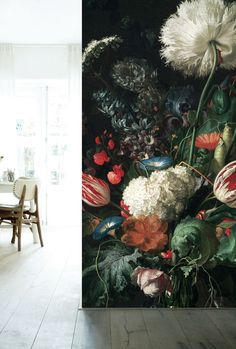 Fotobehang bloemen Golden Age Flowers - KEK Amsterdam®