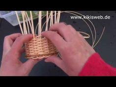 Wie geht Korbflechten? - Körbe flechten mit Peddigrohr Anleitung Homemade, Make It Yourself, How To Make, Crafts, Bucket, Random, Crochet, Tips, Inspiration