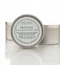 PROVENCE  Vegetable Wax Travel Candle  packaged in by sweetpetula, $16.00