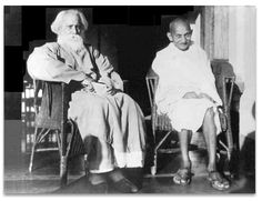 rabindranath tagore and gandhi
