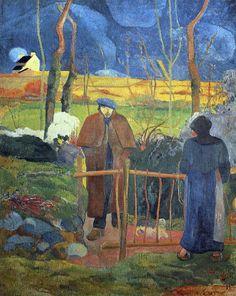 Paul Gauguin - Post Impressionism - Bonjour Mr Gauguin - Hello Mr Gauguin - 1889
