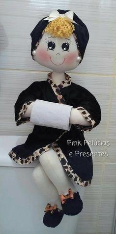 Boneca banheiro porta papel higienico