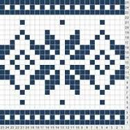 Snowflake - this would be a really cute bracelet. Bead Loom Patterns, Crochet Stitches Patterns, Stitch Patterns, Knitting Patterns, Knitting Stiches, Knitting Charts, Knitting Socks, Fair Isle Chart, Fair Isle Pattern