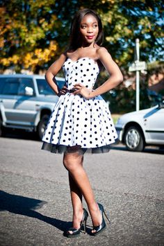 2067339f925 Black   White Polka Dot Party Dress with Petticoat.Etsy continues to be the  best