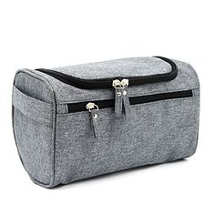 Travel Toiletry Bag Waterproof Zip Organizer Hanging Cosmetic Makeup Shower  Bag With Large Compartment for Men Women for Trip Vacation Gym (Denim Grey) 040206b8ce449
