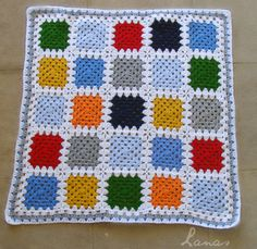 (Crochet * Stash-buster)     With granny number 67, I am finishing the second baby blanket, as part of the Crochet Mood Blanket Challenge ....